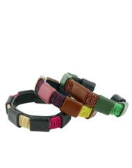 mix de bracelets associant matieres multicolores made in France