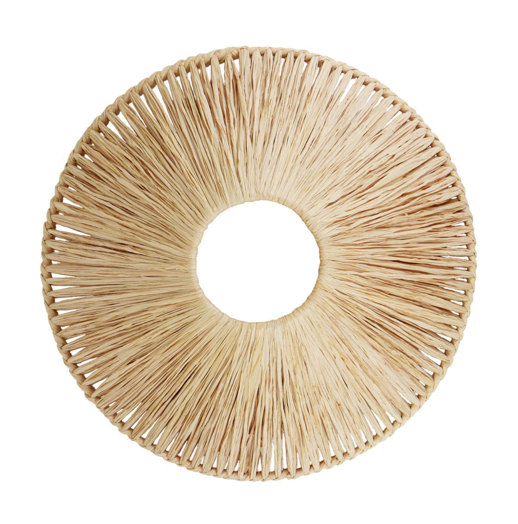 Lampshade Fabien Ifirès - original design in raffia - handcrafted in Paris - 100% made in France