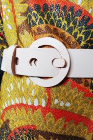 Ceinture Calypso design Fabien Ifirès, accessoire de mode entièrement en cuir fabriqué à la main à Paris dans notre atelier.