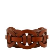 Bracelet design Fabien Ifirès, cuir naturel et style minimaliste chic made in France dans notre atelier à Paris.
