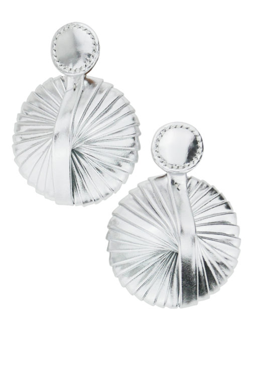 boucles d'oreilles design exclusif et look unique de ce plissé cinétique design Fabien Ifirès 100% Made in France