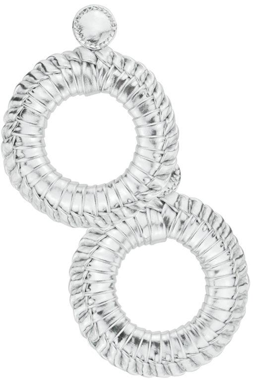 boucles d'oreilles clip tressage taille L design Fabien Ifirès